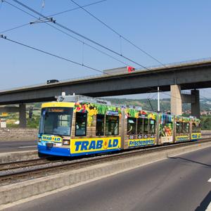 Trabold Frischemärkte – Straßenbahnbeschriftung