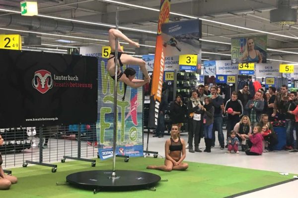 Poledance, Sponsoring, Markting, Decathlon, WüFIT, Event