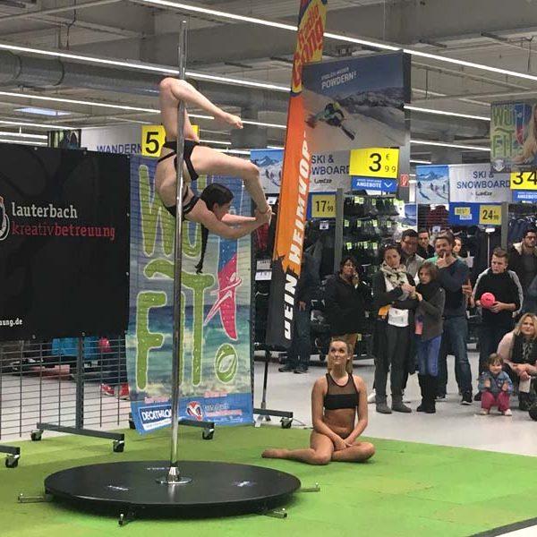 Poledance, Sponsoring, Markting, Decathlon, WüFIT, Event