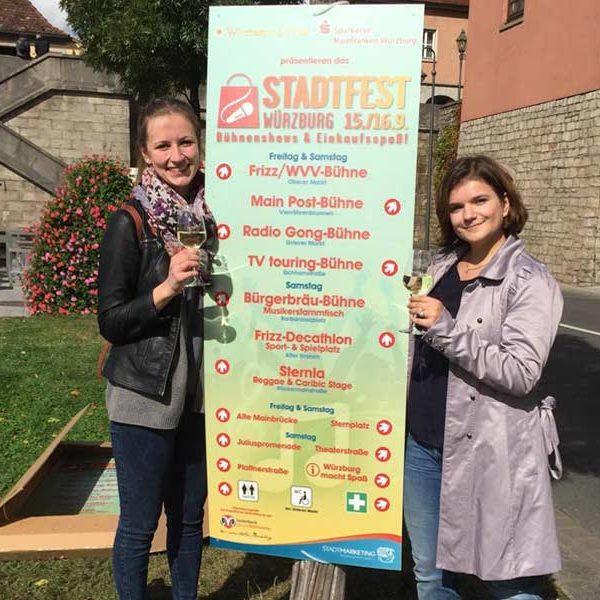 kreativbetreuung, Würzburg, lauterbach, Stadtfest-Beschilderung, Stadtfest