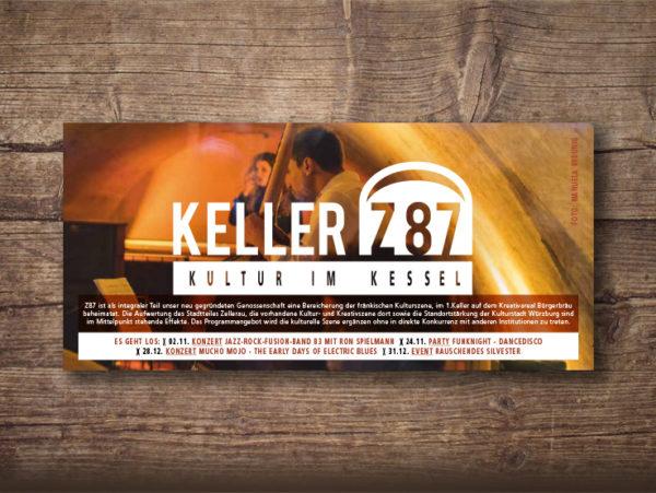 Designagentur, Postkarte, Flyer, Würzburg, Zellerau, Keller Z87