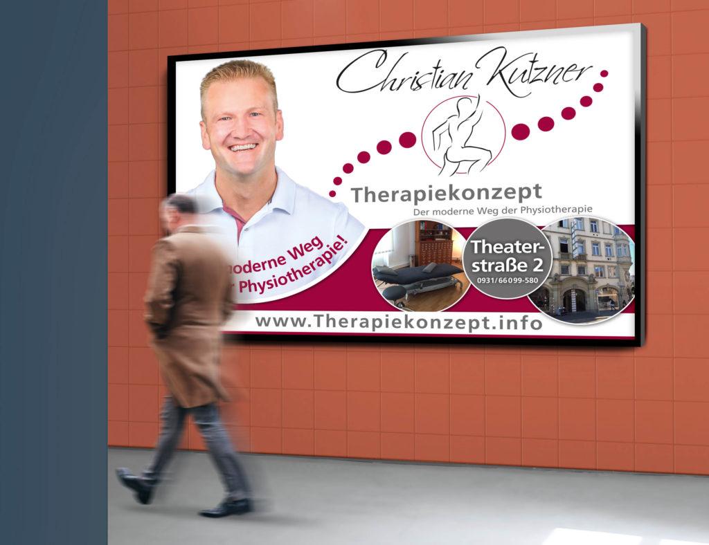 Lauterbach Kreativbetreuung, Marketing, Kreativ, Agentur, Social Media, Consulting, Kommunikationsagentur, Gestaltung, Anzeigengestaltung, Werbeagentur, Kutzner, Christian, Physiotherapie, Plakat, Großfläche, Werbung, Corporate Identity