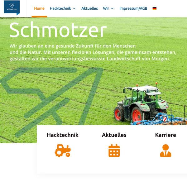 Schmotzer Hacktechnik – neue Website